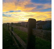 The barren fence Photographic Print