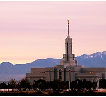 Mount Timpanogos Temple - Pink Morning by Ryan Houston