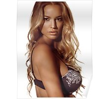 Portrait of a beautiful woman with blond hair wearing lingerie art photo print Poster