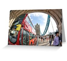 The Red London Bus Greeting Card
