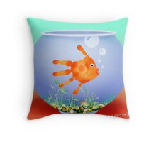 Fish Bowl Critter Throw Pillow