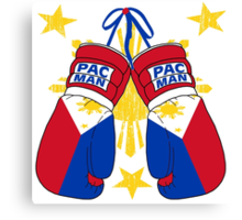 Peoples Champ Pac Man Boxing Gloves Canvas Print