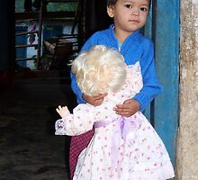 Yashu and her doll by dennisbuwaa