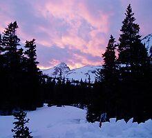 Mitchell Lake Winter Sunset by Paul Magnanti