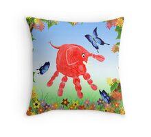 Spring Garden Critter Throw Pillow