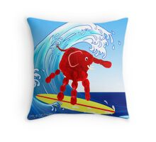 Wave Rider Boy  Throw Pillow