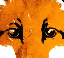Fox on Orange Sticker