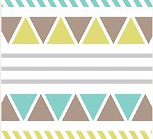 Blue Turquoise and Lime Pattern by D5DBEST
