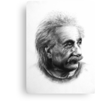 Albert Eistein Pencil Portrait Canvas Print
