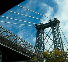 Manhattan Bridge from FDR Dr. by Virginia Maguire