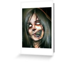 Zombie Girl Greeting Card