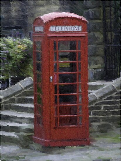Telephone Box - Oil Effect by Glen Allen