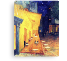 "My Version /  Homage  to Vincent   ""  The Cafe' Terrace  at Night  ""     My Paintings                        Canvas Print"
