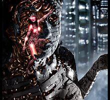 Cyberpunk Painting 048 by Ian Sokoliwski