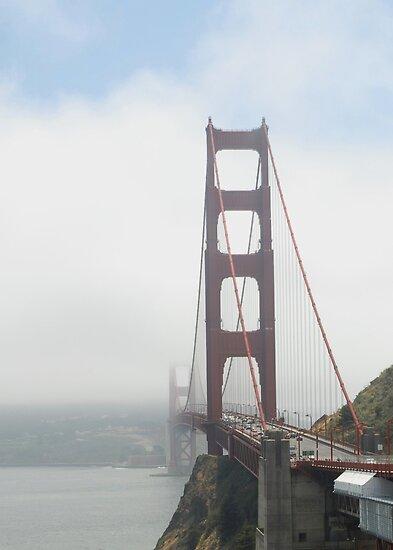 Goldengate Bridge in the fog by Marjorie Wallace