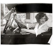 Actress Behind the Wheel, 1921 Poster