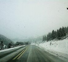 snowed road by Rita Iszlai