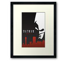 Batman Arkham City Simplistic Framed Print