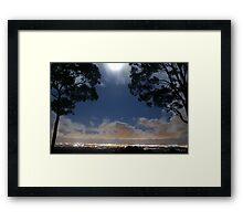 Full Moon at Surfers Paradise Gold Coast © Vicki Ferrari Photography Framed Print