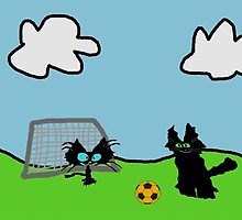 Kitten's Soccer Practice by JohnsCatzz