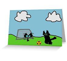 Kitten's Soccer Practice Greeting Card