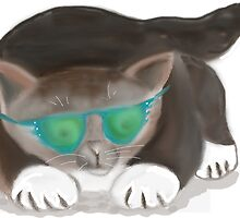 Kitty wearing Sunglasses by NineLivesStudio