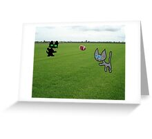 Cats Practice Football Greeting Card