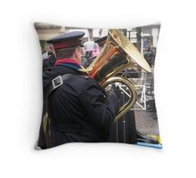 Salvation in the Tuba Throw Pillow
