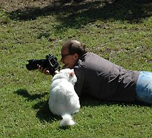 The Photographer and his helper by Danielle Girouard