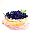 Delicious...Blueberry Tart by © Janis Zroback