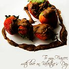 Chocolate Strawberry Valentine's Card - Fiancee by -raggle-