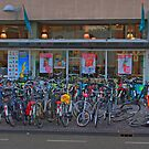 Cycle park at the supermarket by Tom Gomez