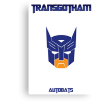 Batman and Transformers - Autobats Canvas Print