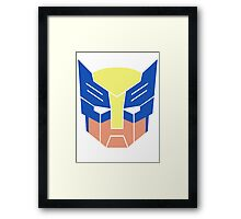 Wolverine Transformers Retro Style Framed Print