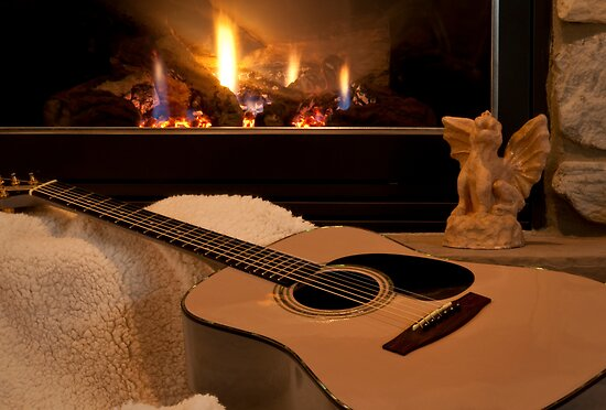 Its Good to Warm my Tones Beside the Fire by Yvonne Roberts