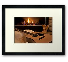 Its Good to Warm my Tones Beside the Fire Framed Print