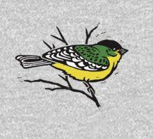 Lesser Goldfinch T-shirt by SigneNordin