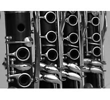 Clarinets on Line Photographic Print