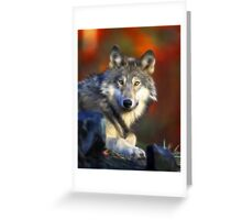 Lonely Wolf Greeting Card