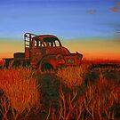 Punmu truck on canvas by Geoff White