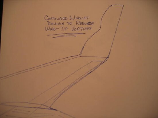 Contoured Winglet Design by Lance Winslow by Lance  Winslow