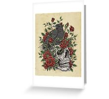 Floral Skull Greeting Card