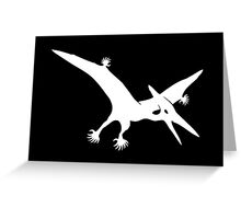 Polydactyl Pterodactyl (white design) Greeting Card