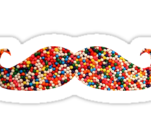 Candy Sprinkles Cookie Mustache Sticker