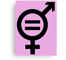 Equality - Merged Male and Female Gender Symbols Canvas Print