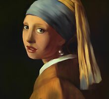 Pearl Earring my way by bev langby