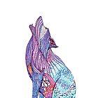 Zentangle Inspired Wolf by Lyweno