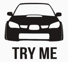 Try Me Subaru Decal (White) T-Shirt