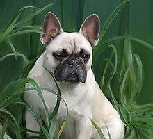 Rosey in the Grass by Cazzie Cathcart