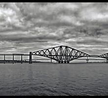 Panorama of The Forth Bridge, Scotland by David Alexander Elder